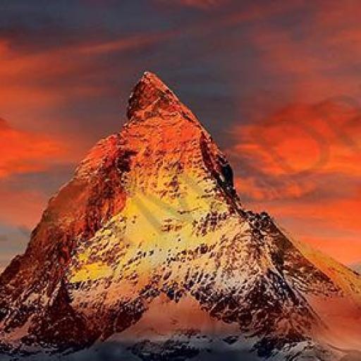 Cuadro en lienzo alargado rectangular para decorar montañas alpes
