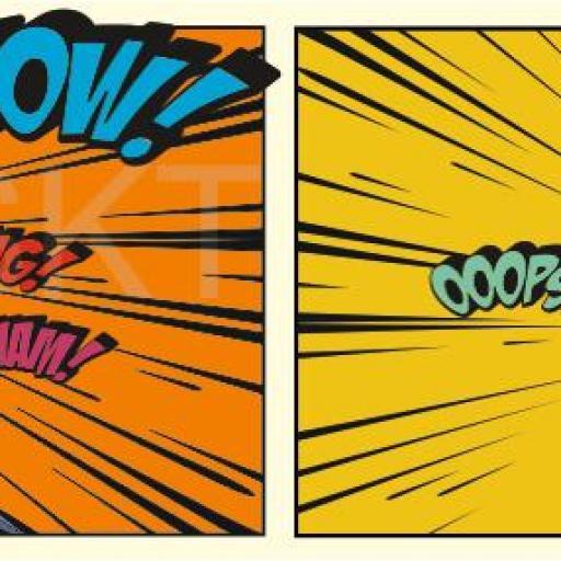 Cuadro en lienzo moderno cómic pop art superhéroes tamaño grande cabecero salón