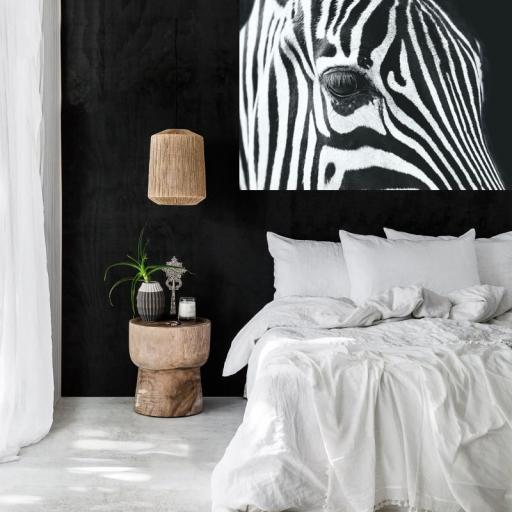 Cuadro en lienzo tamaño grande XXL cebra blanco y negro [1]