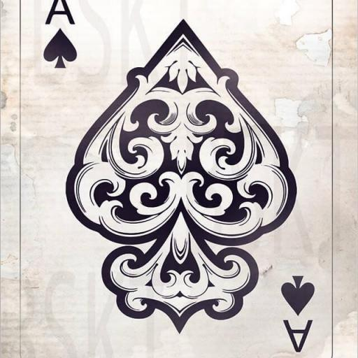 Cuadro en lienzo Carta as de espadas ace of spades naipes alta resolución