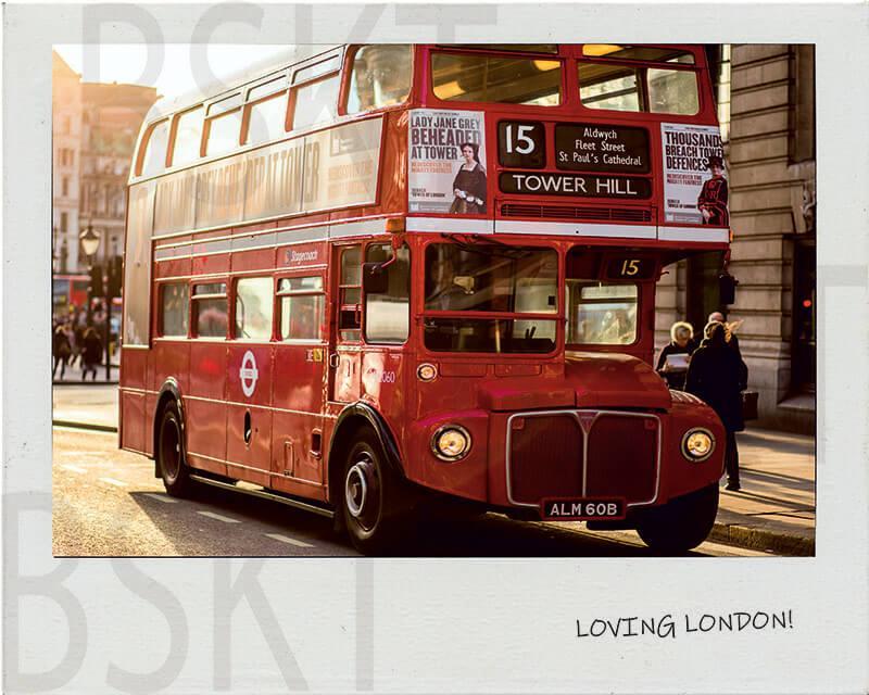 Cuadro en lienzo polaroid Londres