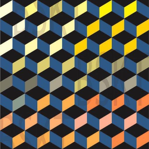 Cuadro en lienzo figuras geómetericas alta resolución