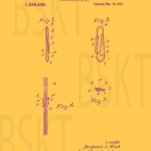 Cuadro en lienzo patente clip