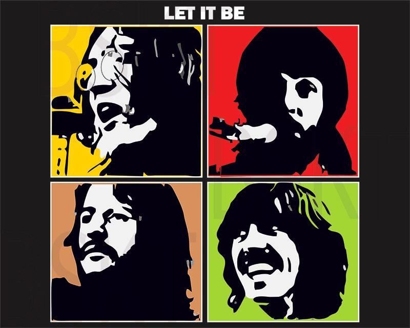 Cuadro lienzo The Beatles Let it be