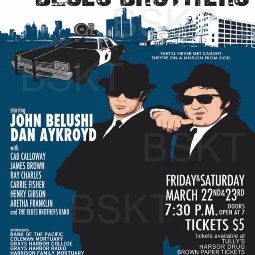 Cuadro en lienzo Blues Brothers