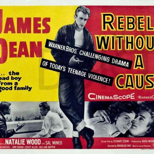 Cuadro en lienzo Rebelde sin causa James Dean