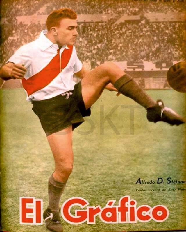 Cuadro en lienzo  Di Stefano revista El Gráfico River Plate Real Madrid