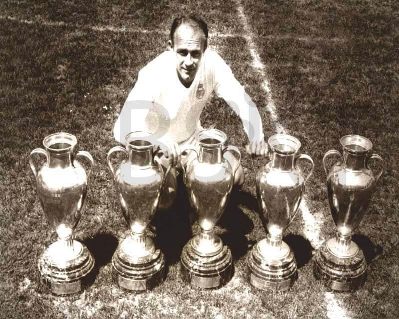 Cuadro en lienzo Alfredo Di Stefano copas de Europa vintage Real Madrid