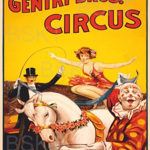 Cuadro en lienzo Gentry Bros. Circus