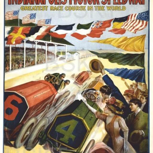Cuadro en lienzo  Carreras Indianapolis