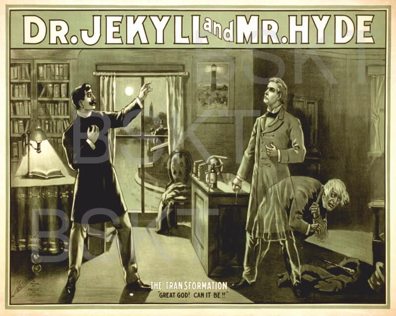 Cuadro en lienzo Jekyll y Hyde