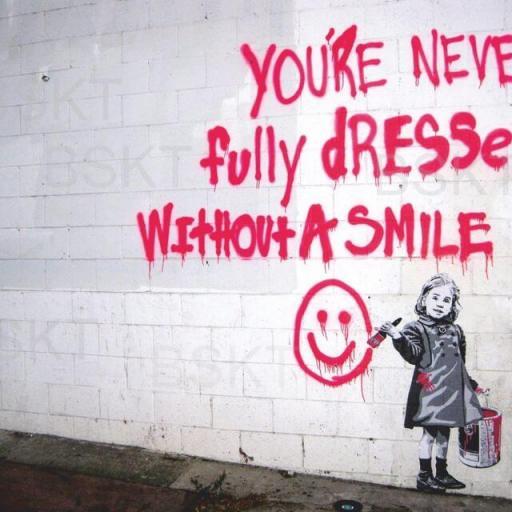 Cuadro en lienzo smile graffiti street art Banksy