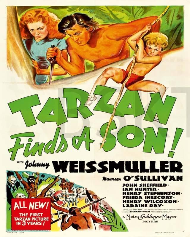 Cuadro en lienzo Tarzan y su hijo