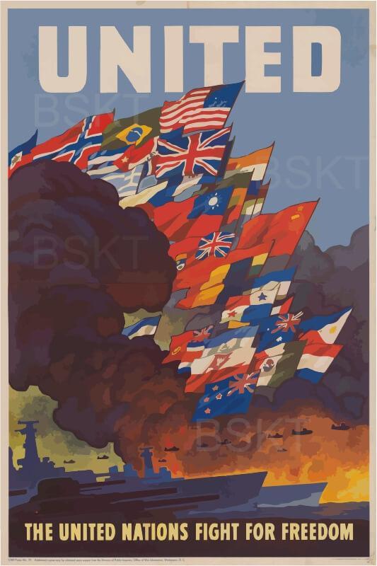 Cuadro en lienzo II guerra mundial para decoración