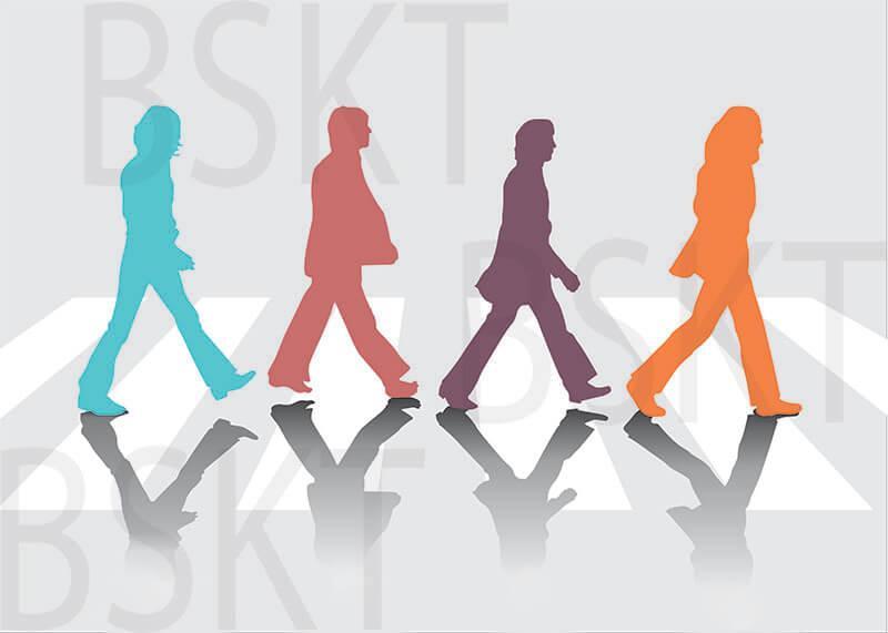 Cuadro en lienzo montado sobre bastidor Beatles Abbey Road Pop art