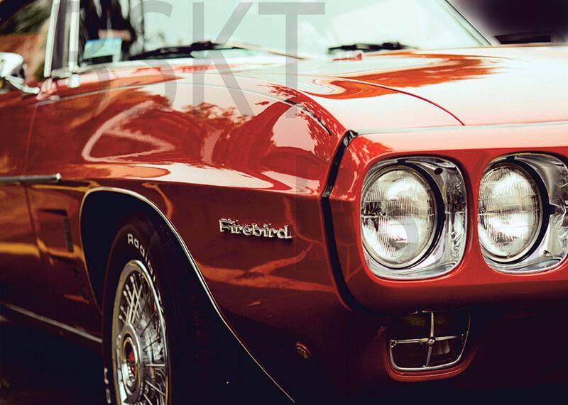 Cuadro en lienzo Pontiac firebird coche clásico
