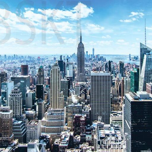 Cuadro en lienzo Manhattan vista aerea Nueva York NY