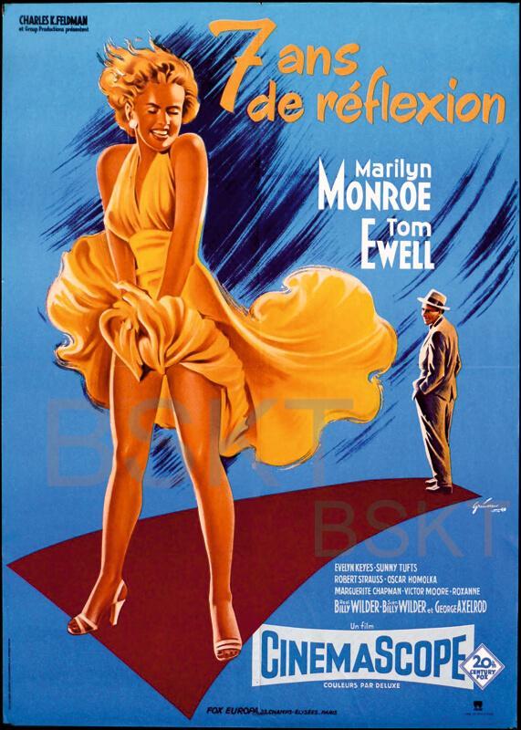 Cuadro en lienzo la tentacion vive arriba Marilyn monroe