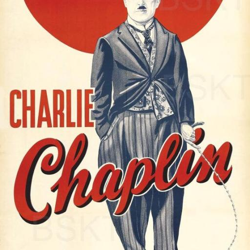 Cuadro en lienzo Charlie Chaplin Charlot