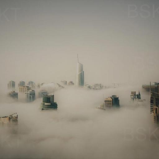 Cuadro en lienzo ciudades en niebla  [0]