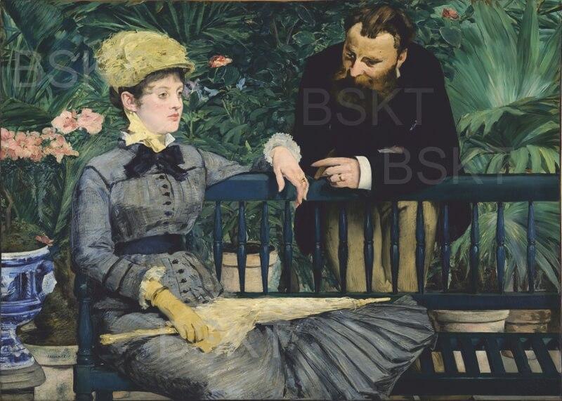 Cuadro en lienzo en el conservatorio Manet