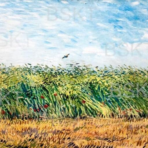 Cuadro en lienzo Van gogh campo de trigo con alondra