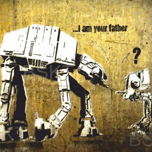 Cuadro en lienzo Banksy Star Wars