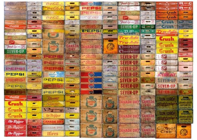 Cuadro en lienzo cajas de bebidas