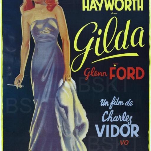 Cuadro en lienzo película Gilda Rita Hayworth