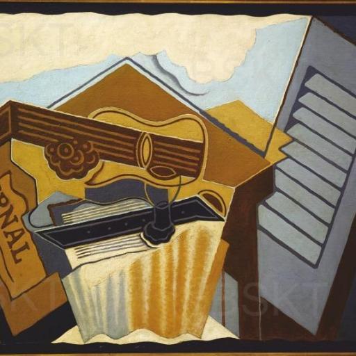 Cuadro en lienzo Juan Gris arte cubismo