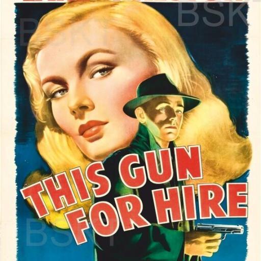 Cuadro en lienzo película clásica This gun for hire