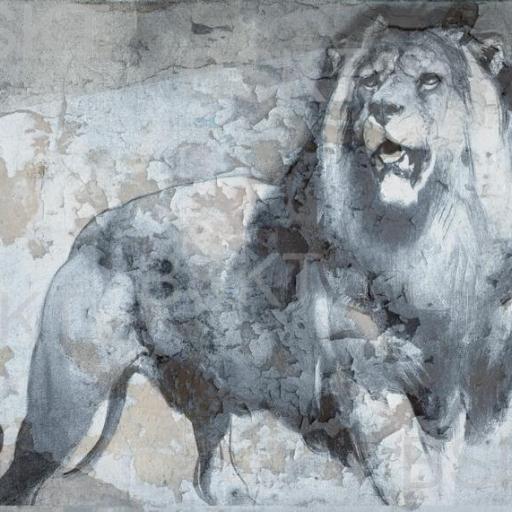 Cuadro en lienzo fotografía leon para decorar salón