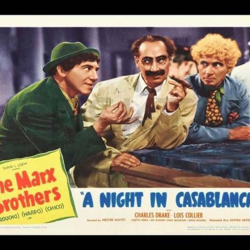 Cuadros en lienzo cine Hermanos Marx una noche en Casablanca