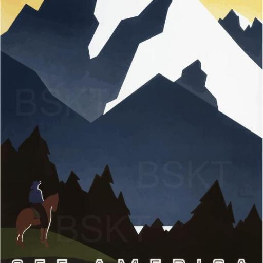 Cuadro en lienzo cartel anunciador Montana