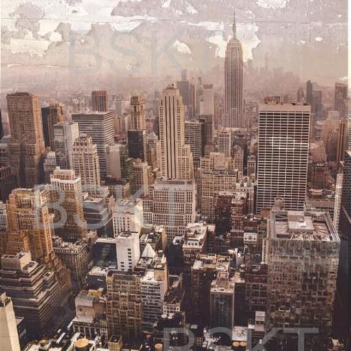Cuadro en lienzo ciudad de Nueva York vintage