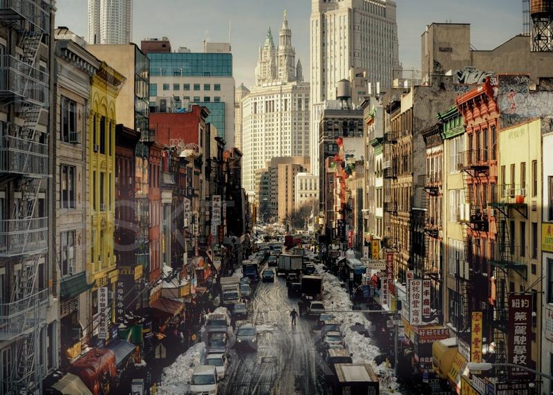 Cuadro en lienzo ciudades paisaje urbano