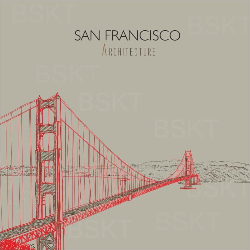 Cuadro en lienzo cuadrado arquitecture San Francisco