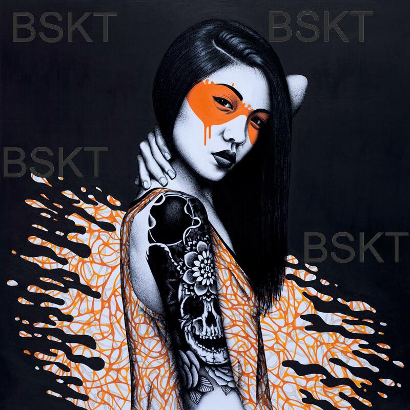 Cuadro graffiti Fin DAC lienzo arte urbano street art asian