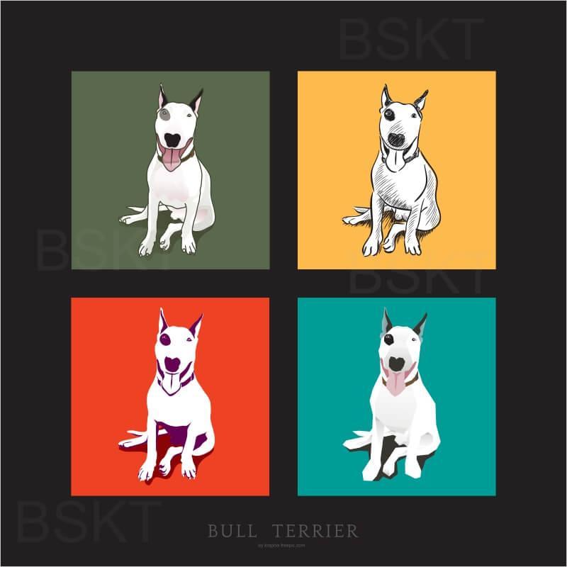 Cuadro en lienzo cuadrado pop art Terrier