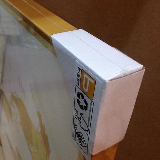 Cuadro en lienzo arte decorativo japonés fondo dorado [2]