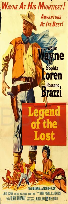 Cuadro en lienzo alargado oeste western John Wayne Legend of the lost