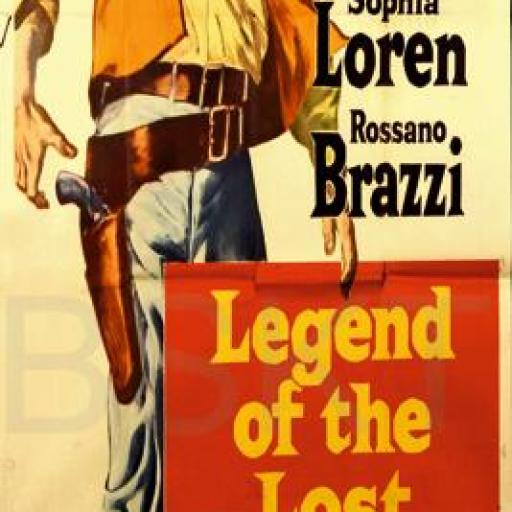 Cuadro en lienzo alargado oeste western John Wayne Legend of the lost
