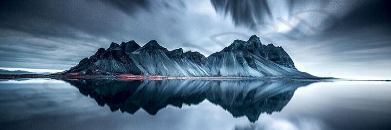Cuadro en lienzo alargado fotografía artística paisaje simétrico