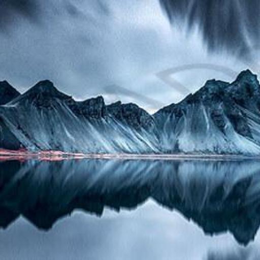 Cuadro en lienzo alargado fotografía artística paisaje simétrico [0]