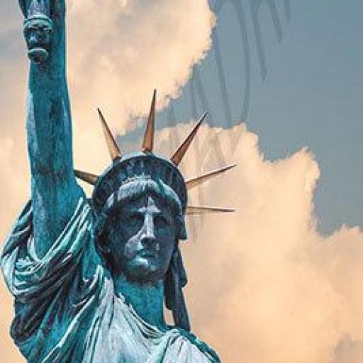 Cuadro en lienzo estatua de la libertad tamaño alargado alta resolución