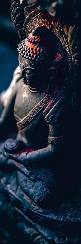 cuadro en lienzo alargado buda meditando