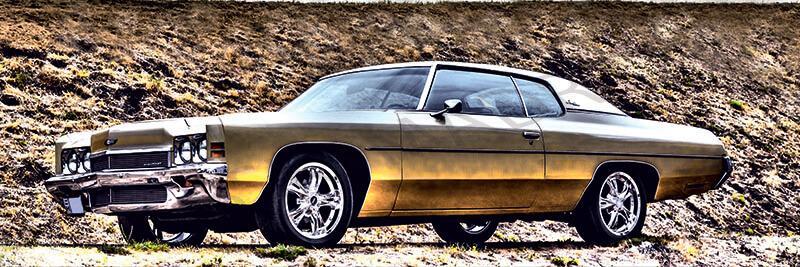 Cuadro en lienzo alargado chevrolet impala