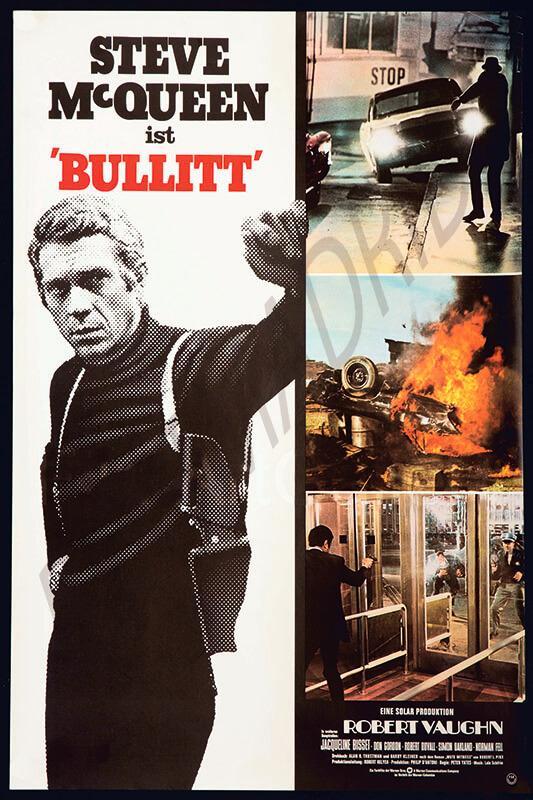 Cuadro en lienzo película Bullit Steve MacQueen
