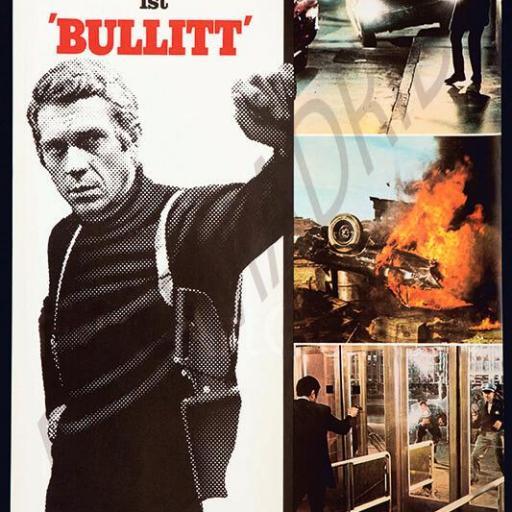 Cuadro en lienzo película Bullit Steve McQueen