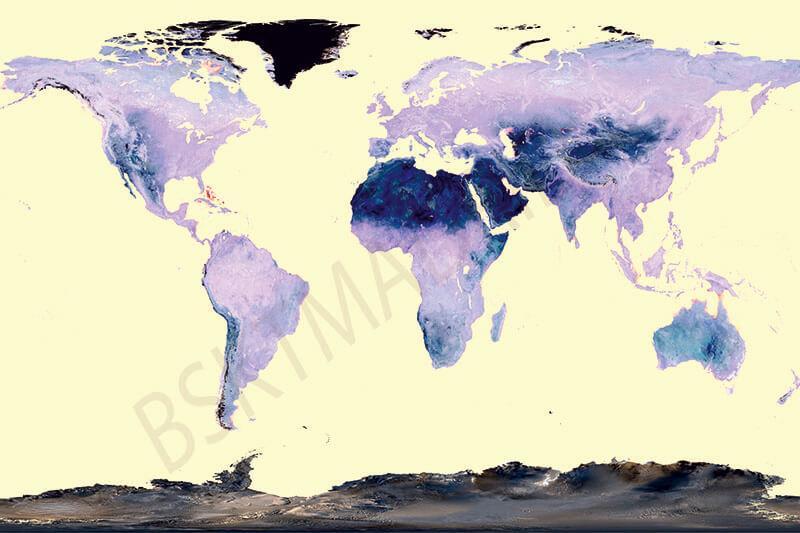 Cuadro en lienzo para decoración mapamundi mapa del mundo